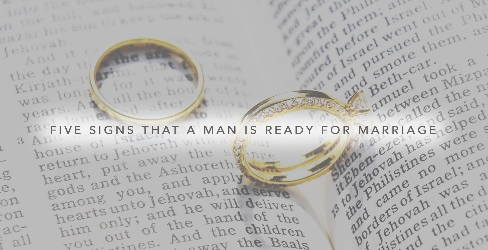 how to know if a man is ready for marriage